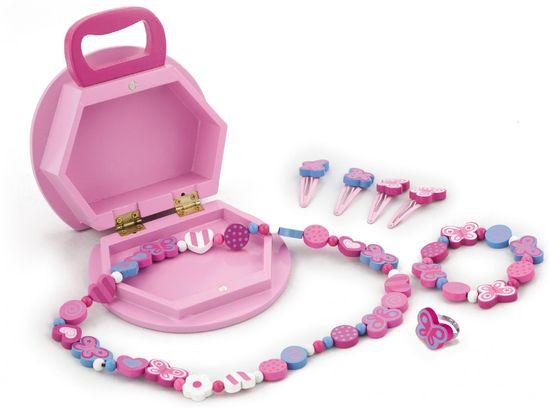 Viga Lesena škatla za nakit z dodatki
