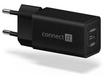 Connect IT Fast PD Charge nabíjecí adaptér 1×USB-C, 18W PD, černý (CWC-2060-BK)