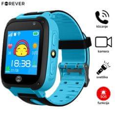 Forever KW-50, dječji sat, LBS lociranje, SIM kartica, SOS, kamera, pozivi, svjetiljka, plavi