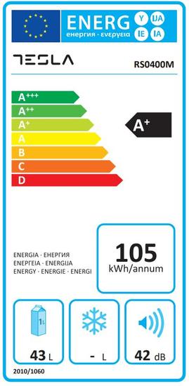 TESLA RS0400M1 mini hladilnik