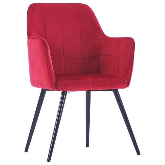 shumee Jedilni stoli 6 kosov temno rdeč žamet