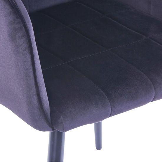 shumee Jedilni stoli 4 kosi črn žamet