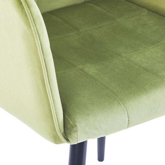 shumee Jedálenské stoličky 2 ks, svetlozelené, zamat