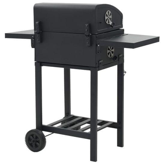 shumee fekete színű faszén tüzelésű grillsütő alsó polccal