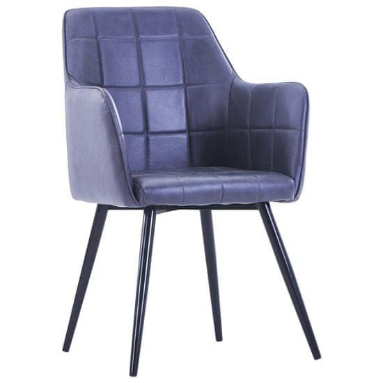 shumee Jedilni stoli 4 kosi sivo umetno semiš usnje