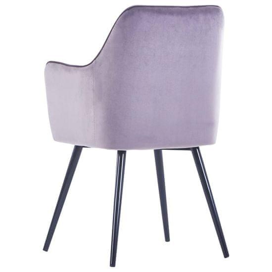Greatstore Jedilni stoli 4 kosi siv žamet