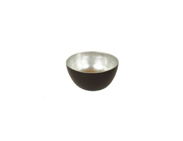FORLIVING Bambusová mísa - stříbrná - výška 17 cm, průměr (vrchní) 30,5 cm (mísa střední)