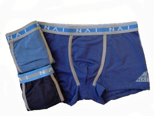 N.A.I. N.A.I. 8633 pánské boxerky Barva: šedá, Velikost oblečení: S/M