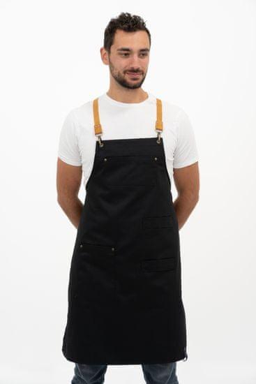 Vondrak design fartuch - Black & leather
