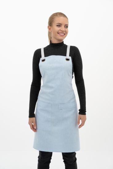 Vondrak design fartuch lniany - niebieski
