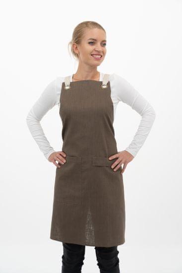 Vondrak design fartuch lniany - brązowy