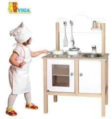 Viga kuchnia drewniana biała