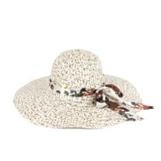 Art of Polo Elegantní letní klobouk s ozdobnou mašlí, béžovo bílý