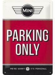 Postershop kovinski znak – Mini Cooper Parking Only