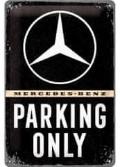 Postershop kovinski znak Mercedes-Benz Parking Only, 30 × 20 cm