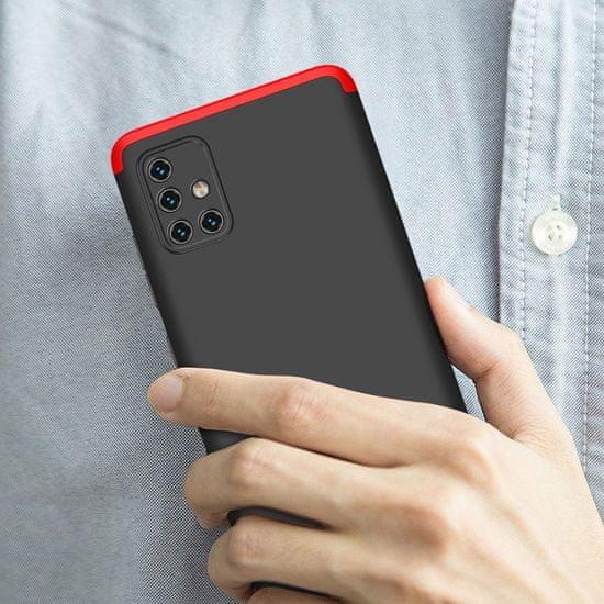 GKK 360 Full Body műanyag tok Samsung Galaxy A51, fekete/piros