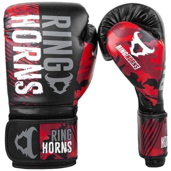 """Boxerské rukavice """"Charger Camo"""", červená 14oz"""