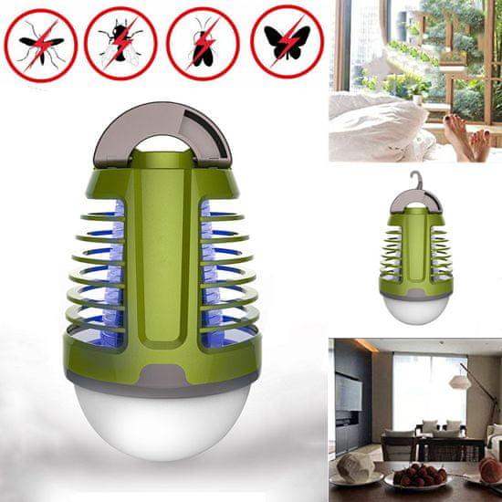 Platinet PMKL6500, 2-v-1 lanterna proti mrčesu + LED lučka, vgrajena Li-On baterija, 30-40m2