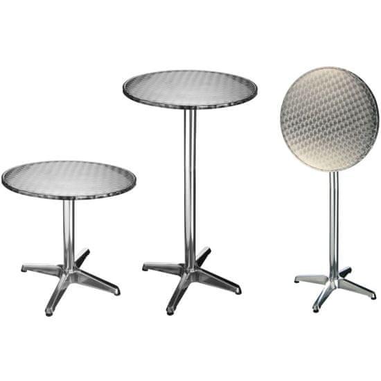 HI Skládací bistro bar/stůl hliník kulatý 60 x 60 x (58–115) cm