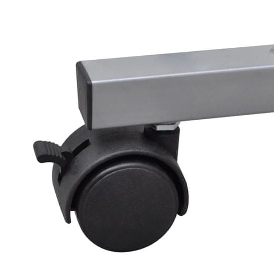 shumee Računalniška miza z izvlečno polico za tipkovnico Rjavi zaključek