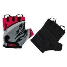 Rulyt kolesarske rokavice Sulov Junior M, črne/rdeče - Odprta embalaža