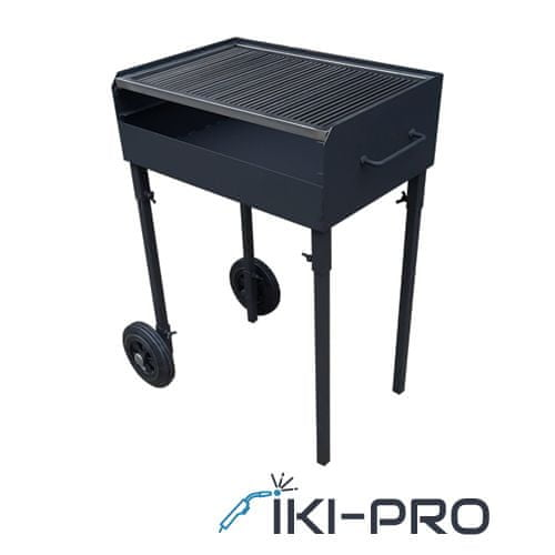 IKI-PRO Žar na oglje 80 x 40 black
