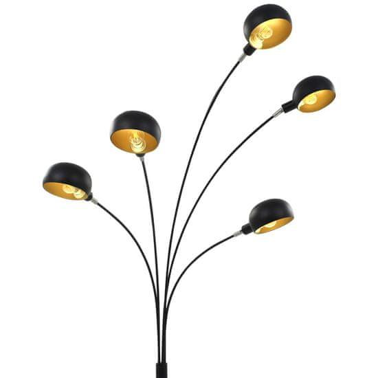 shumee Lampa stojąca, 200 cm, 5 x E14, czarno-złota