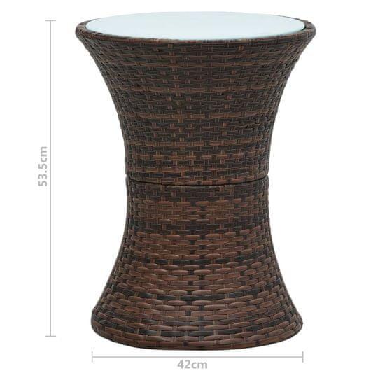 shumee Ogrodowy stolik, w formie bębna, brązowy rattan PE