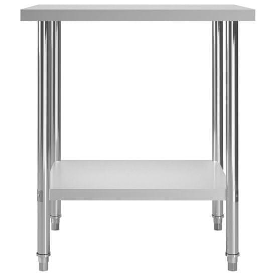 shumee Kuhinjska delovna miza 80x60x85 cm nerjaveče jeklo