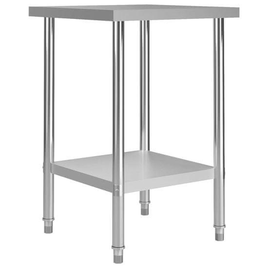 shumee Kuchynský pracovný stôl 60x60x85 cm, nehrdzavejúca oceľ