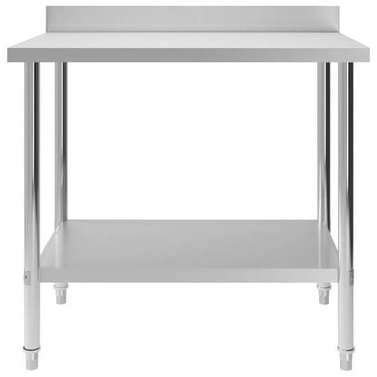 shumee Kuhinjska delovna miza z zaščitno ploščo 100x60x93 cm jeklo