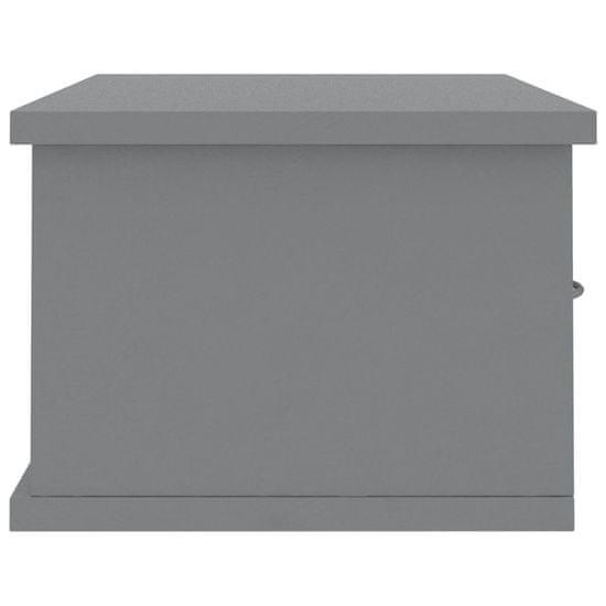 shumee szürke falra szerelhető fiókos polc 60 x 26 x 18,5 cm