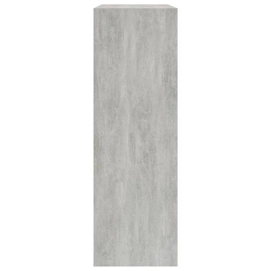 shumee Knižnica betónová sivá 60x24x74,5 cm drevotrieska