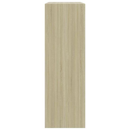 shumee Knjižna polica sonoma hrast 60x24x74,5 cm iverna plošča