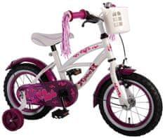 Volare Detský bicykel pre dievčatá Heart Cruiser - biely/fialový, 12