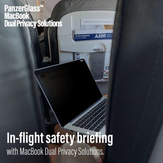 PanzerGlass Magnetic Privacy zaščitna folija za 15 MacBook Pro 0518