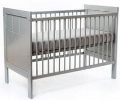 NANNA Postieľka Elle 120 x 60 cm Grey (nanna_elle_grey)