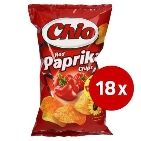 CHIO čips, paprika, 18 x 150 g