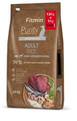 Fitmin pasja hrana dog Purity Rice Adult Fish & Venison 12 kg + 1 kg