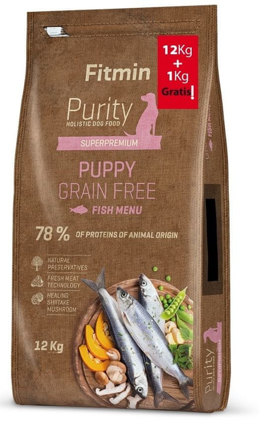 Fitmin dog Purity GF Puppy Fish 12 kg + 1 kg
