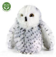 Rappa Pluszowa sowa polarna, 18 cm, ECO-FRIENDLY