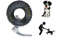 Igralna vrv z gumo, za pse