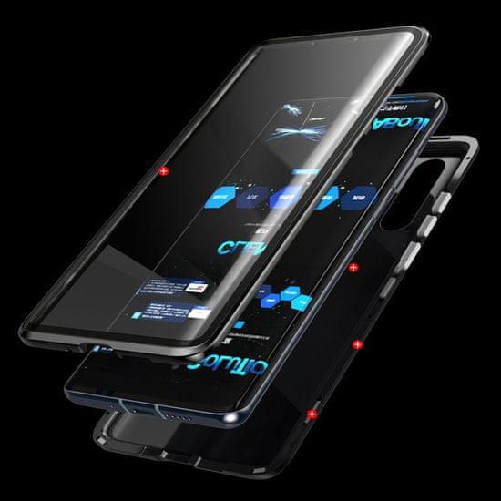 MG Magnetic Full Body Glass magnetni ovitek za Huawei P30 Pro, črna/pregleden