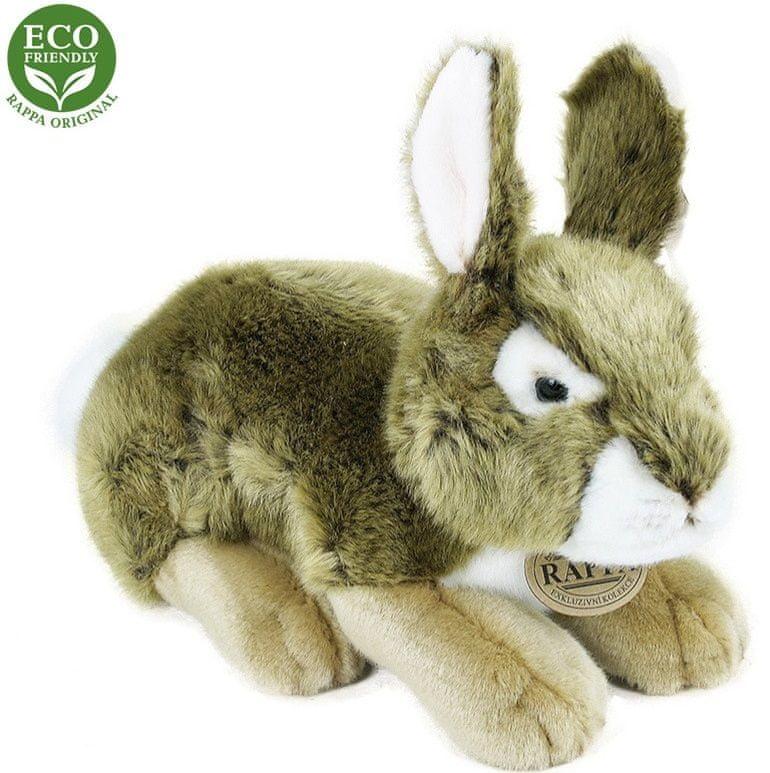 Rappa Plyšový králík šedý, 25 cm, ECO-FRIENDLY
