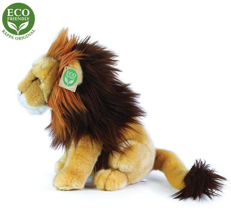 Rappa Plyšový lev sedící, 25 cm, ECO-FRIENDLY