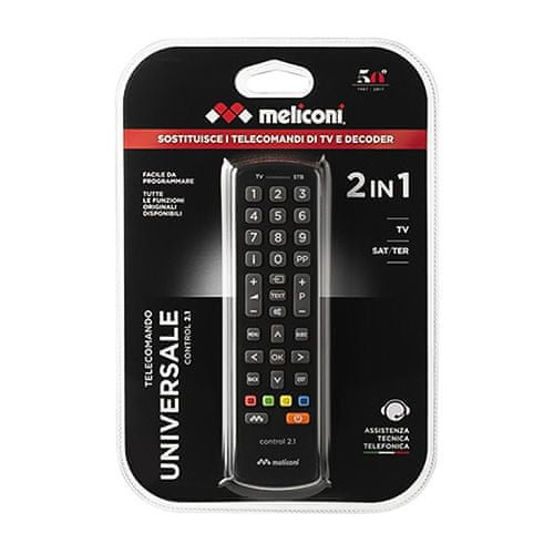 Meliconi 808037 CONTROL 2.1 Daljinski upravljalnik, Številka zaloge BVZ: 9204958