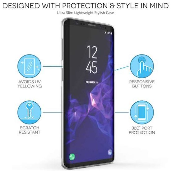Caseflex silikonski ovitek Marble Arrows za Samsung Galaxy S9