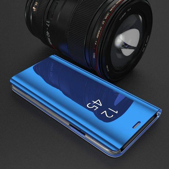 MG Smart Clear View usnjeni ovitek za Samsung Galaxy S7 Edge, modra