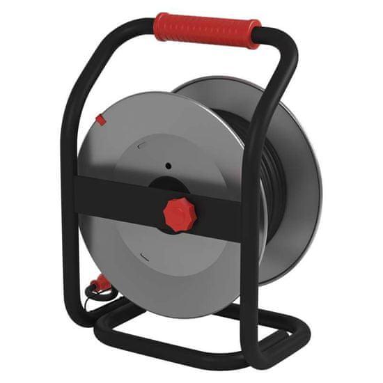 Emos Prodlužovací kabel - guma-neoprén, buben kovový - 4 zásuvky, 25 m, 1,5 mm2 1908442500