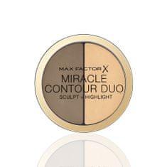 Max Factor Miracle Contour Duo kremno senčilo in konturing, Medium/Deep